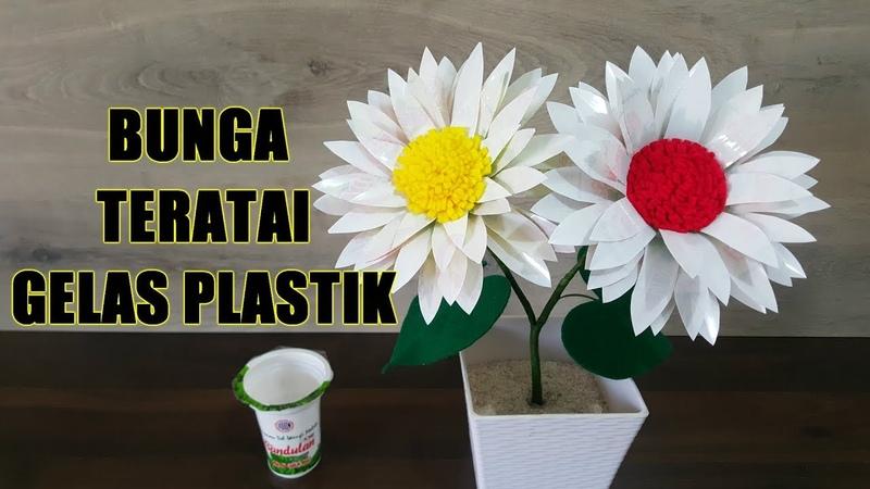 Ide Kreatif Kreasi Bunga Teratai dari Gelas Plastik Minuman смотреть онлайн без регистрации