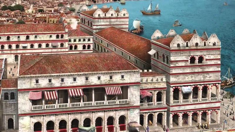 Archeolibri.com | Venezia Palazzo Ducale come doveva apparire nel XII secolo e come è oggi