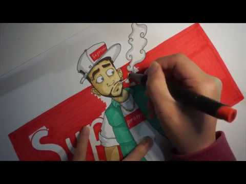 Drawing Supreme Hypebeast Character!