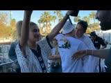 Hailey, Gigi, Vigil and Kendall at Coachella Valley Music and Arts Festival in Indio, California.