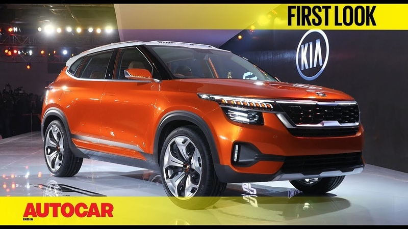 Kia first car for India SP Concept Auto Expo 2018 First Look Autocar India