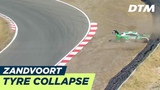 Collapsing tyre ends the race for Nico M