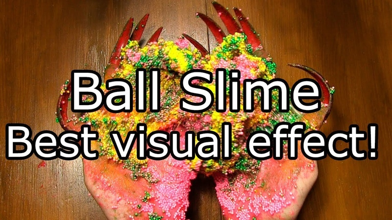 Slime mixing beads, Cat Maine Coon Slime mix very long nail