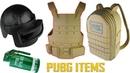 How to make PUBG ITEMS Compilation Level 3 Helmet, Smoke Bomb, Lvl 3 Military Vest, Lvl3 Backpack