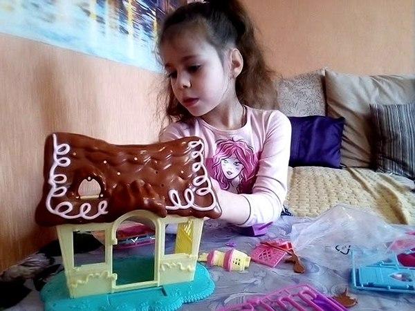 Анжелика распаковывает пряничный домик Пинки Пай!My litle PONY POPДоска для рисования!