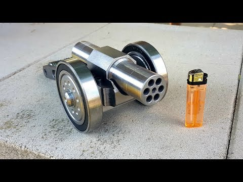 SIX Barrel Powerful Mini Cannon 9mm Caliber Most Powerful mini Cannon EVER