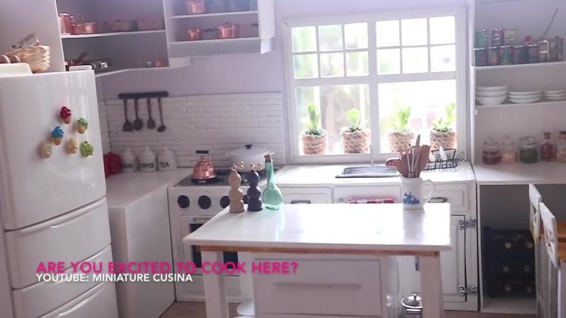 MINIATURE KITCHEN TOUR [ASMR] ミニチュアキッチンツアー Pelancongan Dapur Miniatur 微型廚房之旅