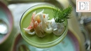 Savory Pea Panna Cotta with King Crab and Lemon Dill Cream
