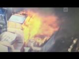 Пожар на заводе Tesla