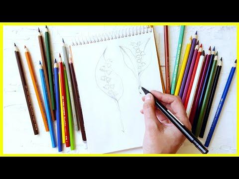 🎨Рисуем Ландыши цветными карандашами! Трансляция!