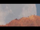 Закат Луны за вулкан Тейде на острове Тенерифе, Испания.