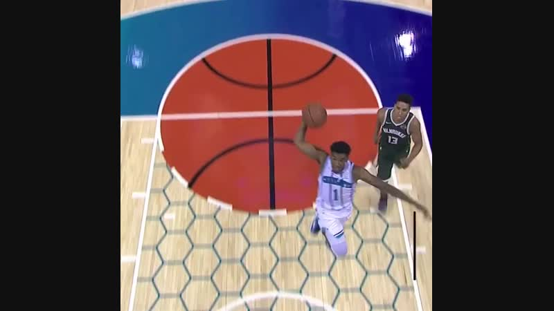 Nic Batum swats it for Malik Monk to take it home for the slam