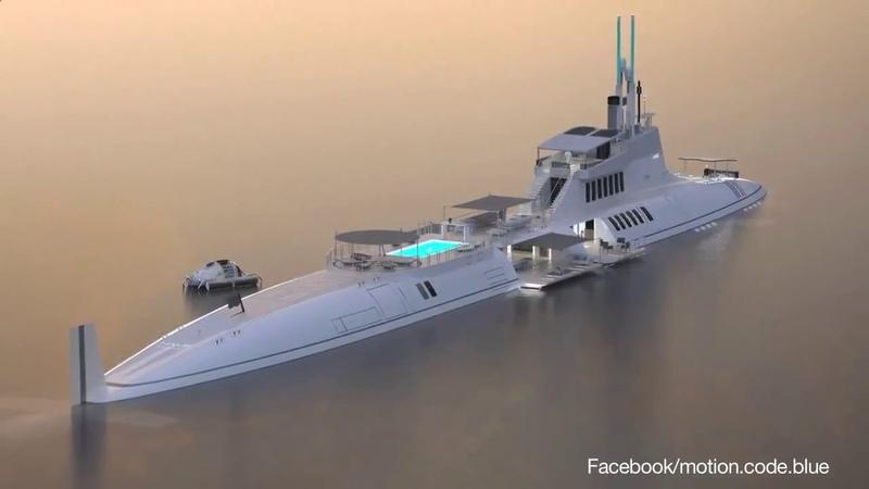 Яхта - подводная лодка. Обзор!