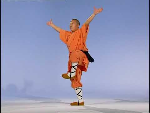 Шаолинь кунгфу обучает мастер Ши Дэ-Чен (Teaching Grandmaster Shi De-Cheng)