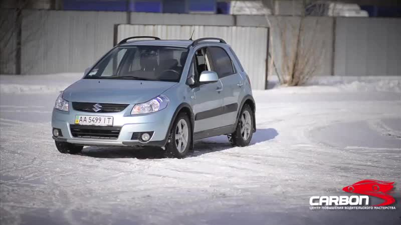 Экстремальное вождение зима от Центра вождения Карбон. Киев.mp4