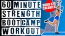 60 Minute Strength Boot Camp Workout 🔥Burn 675 Calories! 🔥