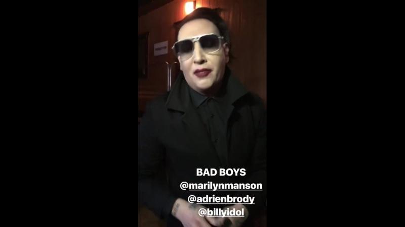 Marilyn Manson Adrien Brody and Billy Idol at Coachella 2018
