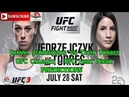 UFC Calgary Joanna Jedrzejczyk vs Tecia Torres UFC Fight Night Predictions EA Sports UFC 3