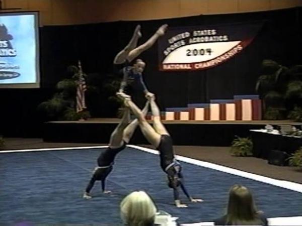 USA Sports Acrobatics Nationals 2004 Elite Women's Trio Balance Routine