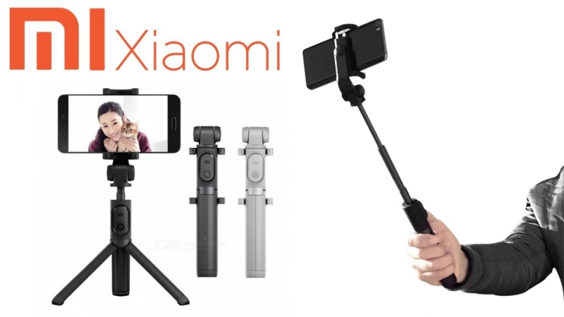 селфи палка штатив трипод для селфи и видео - Xiaomi Selfie Stick Tripod bluetooth original