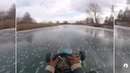 Ice karting on river
