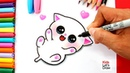 Aprende a dibujar un GATITO BEBÉ Kawaii How to Draw a Cute Baby Kitten