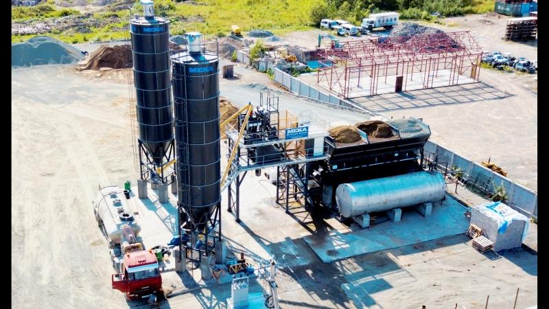 Бетонный завод MEKAMIX-60 COMPACT в г. Южно-Сахалинск