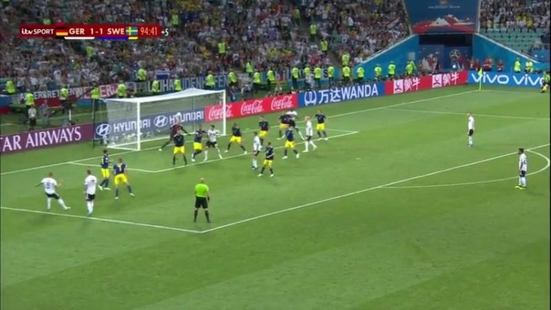 Победный гол Тони Крооса в матче Германия - Швеция