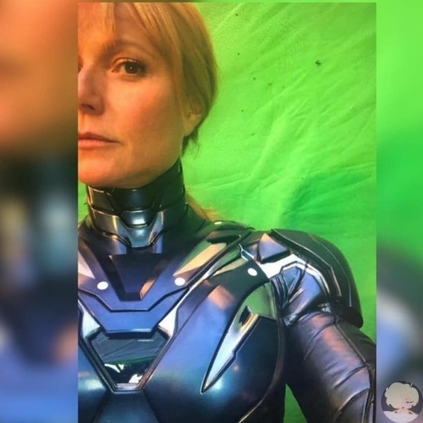 В интернет попала фотография голливудской актрисы Гвинет Пэлтроу со съёмок четвертой части «Мстителей». Она предстала в костюме Железной Спасительницы.