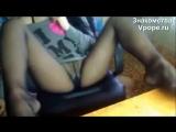 Девушка в чёрных колготках раздвинула ножки (Ножки, Фетиш, Фут, Foot, Fetish, Чулки, Legs, Секси)