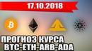 📕 ПРОГНОЗ КУРСА BITCOIN BTC ETHEREUM ETH ADA ARB на сегодня