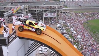 """Tanner Foust on Instagram: """"#tbt to when I jumped the #indy500 setting a world record with @hotwheelsofficial"""""""