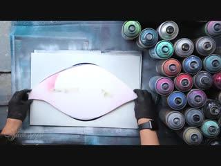 Eye of the forrest - spray paint art by skech. очередной шедевр уличных художников