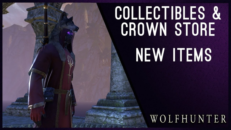New Items Collectibles - Wolfhunter DLC ESO