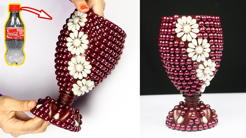 How to Make A Flower Vase At Home Plastic Bottle Flower Vase Home decor ideas