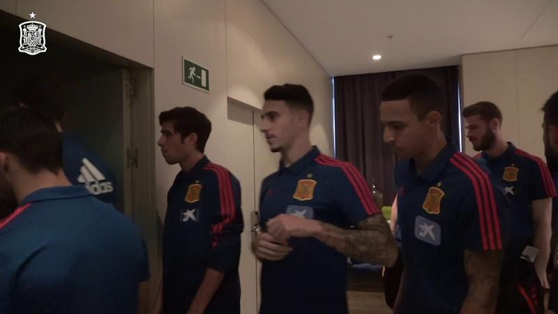 Los internacionales, en su hotel de Gran Canaria antes del amistoso ante Bosnia y Herzegovina