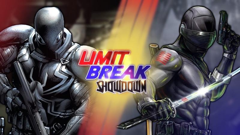 Agent Venom VS Snake Eyes (MARVEL VS G.I. Joe) | Limit Break Showdown