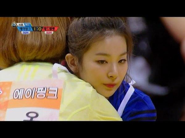 【TVPP】SeulGi(Red Velvet),HaYoung(Apink)-Ssireum, 슬기(레드벨벳),하영(에이핑크)-씨름 예선@2015 Idol Star Championship