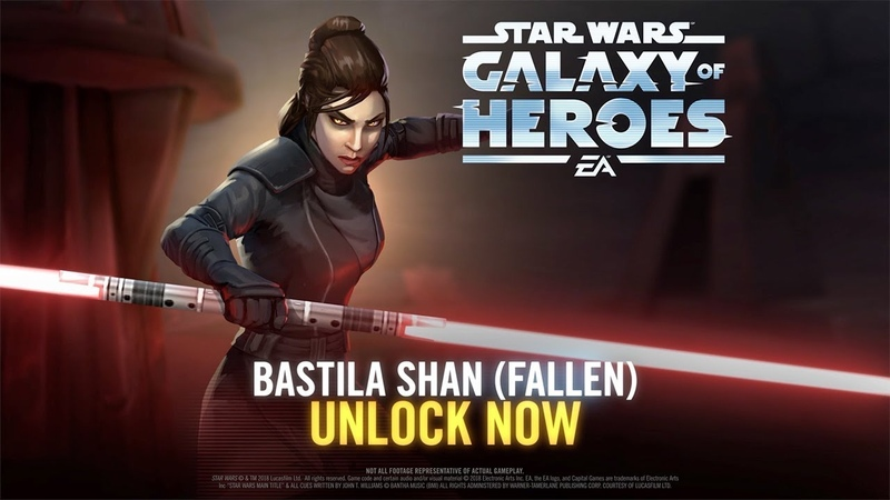 Star Wars Galaxy of Heroes Bastila Shan Fallen Has Arrived