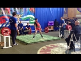 Алимгулов Линар тяга 140 кг Рекорд Башкирии до 18 лет при весе 53 кг
