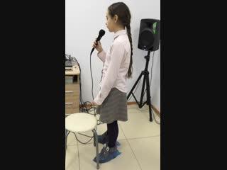 Вокал Смоленск - Глушенкова Настя 9 лет (1 месяц спустя начала занятий) Семейная студия DOMINICANA