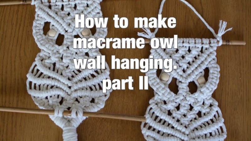 How to make macrame owl wall hanging step-by-step DIY tutorial - part 2 of 2