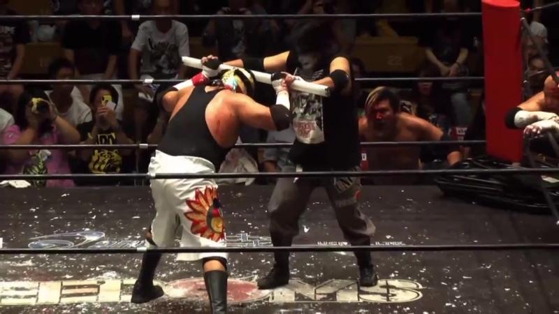 Kenji Fukimoto, Masashi Takeda, Minoru Fujita vs. Ciclope, Miedo Extremo, Violento Jack (FREEDOMS - 9th Anniversary Show)