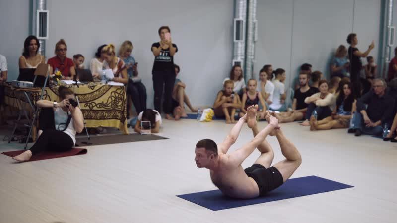 Денис Тимофеев - выступление на чемпионате по йога спорту 2018