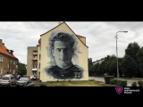 Стрит арт портрет Ивана Даниловича Черняховского