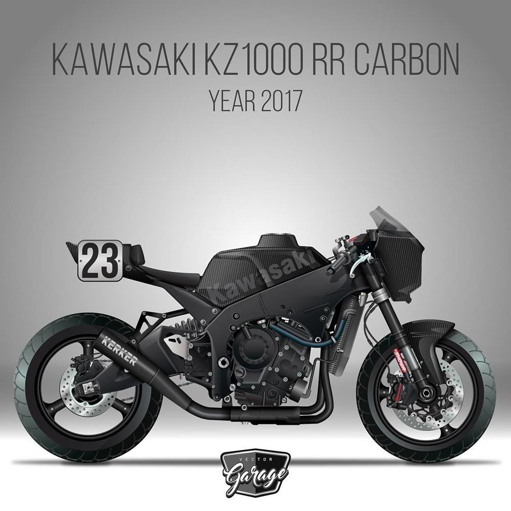 Серджио Торибио: рисунки мотоциклов