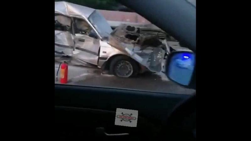 ДТП с летальным, фура столкнулась с Маздой, Краснодар-Ейск, въезд в Медвёдовскую.17.05.2018