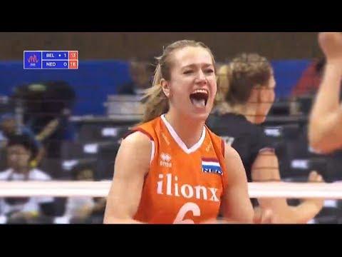Belgium v Netherlands — Full Highlights | 2018 Volleyball Nations League Women's