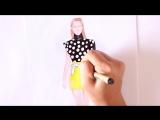 Как нарисовать эскиз одежды_How to draw a FASHION SKETCH
