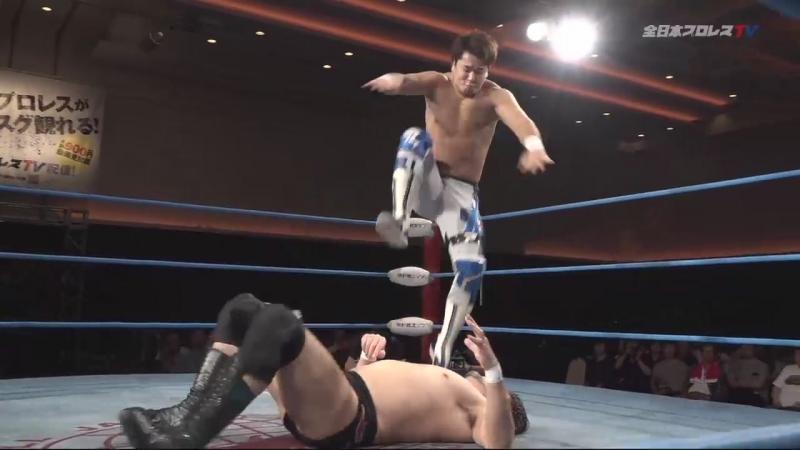 Jun Akiyama, Takao Omori vs. Yoshitatsu, Yuma Aoyagi (AJPW - Dynamite Series 2018 - Day 12)